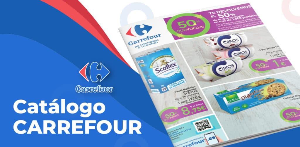 folleto 50 febrero carrefour 1024x503 - 50% de descuento en más de 1500 productos hasta el 11 de marzo