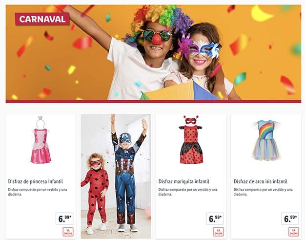 lidl carnaval online - Disfraces carnaval en LIDL