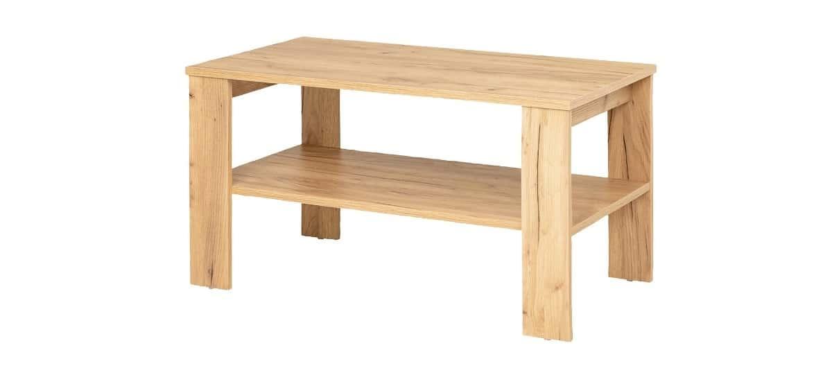 mesa de centro con revistero lidl