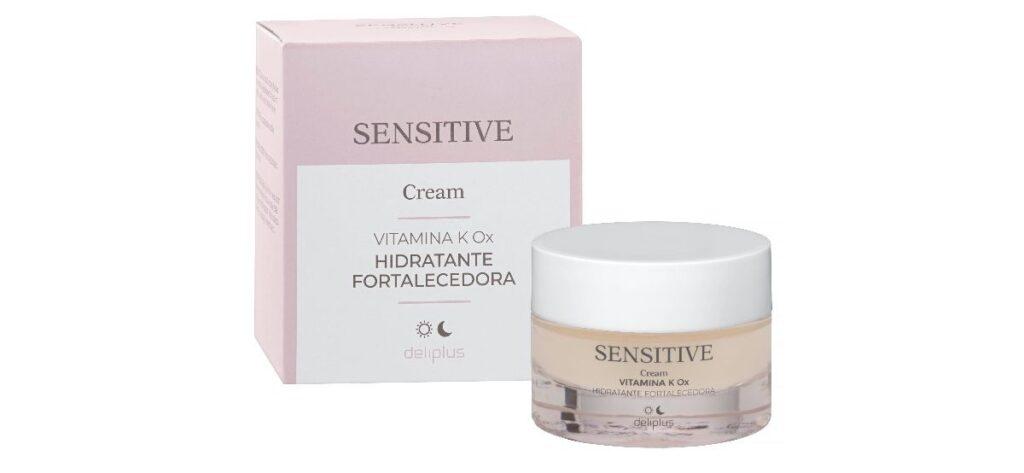 hidratante crema fortalecedora k ox mercadona deliplus 1024x473 - Crema facial hidratante y fortalecedora Sensitive Deliplus con vitamina K Ox