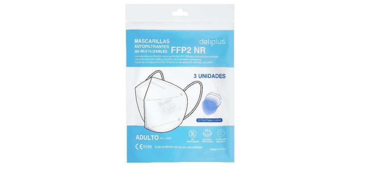 mascarilla no reutilizable ffp2 mercadona