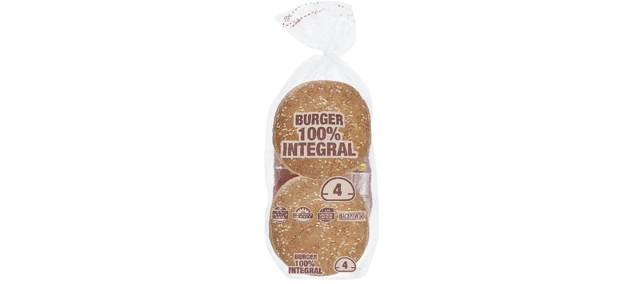 pan de hamburguesa 100 integral hacendado mercadona