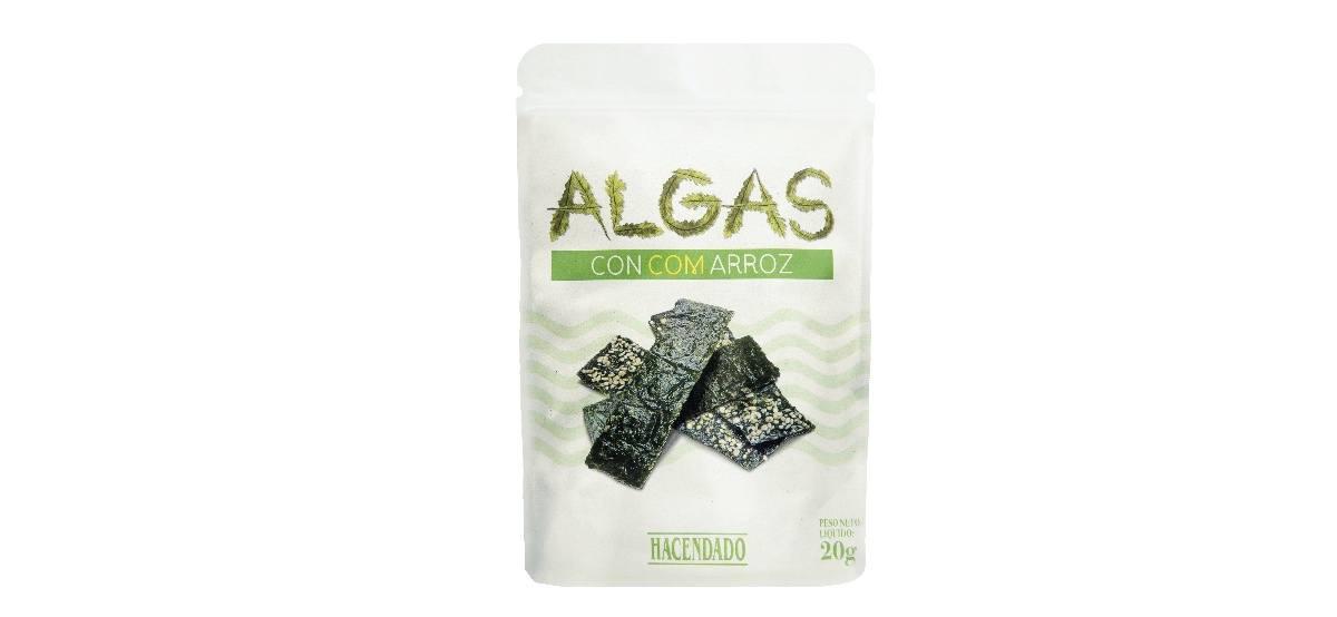 snack de algas con arroz de mercadona hacendado