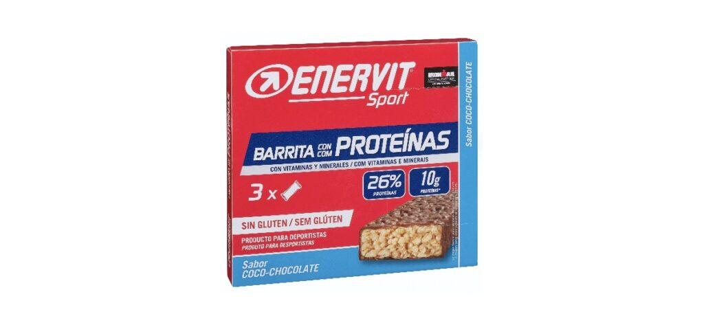 barras de proteinas de coco y chocolate enervit en mercadona 1024x473 - Barrita Enervit con proteínas sabor coco y chocolate en  Mercadona
