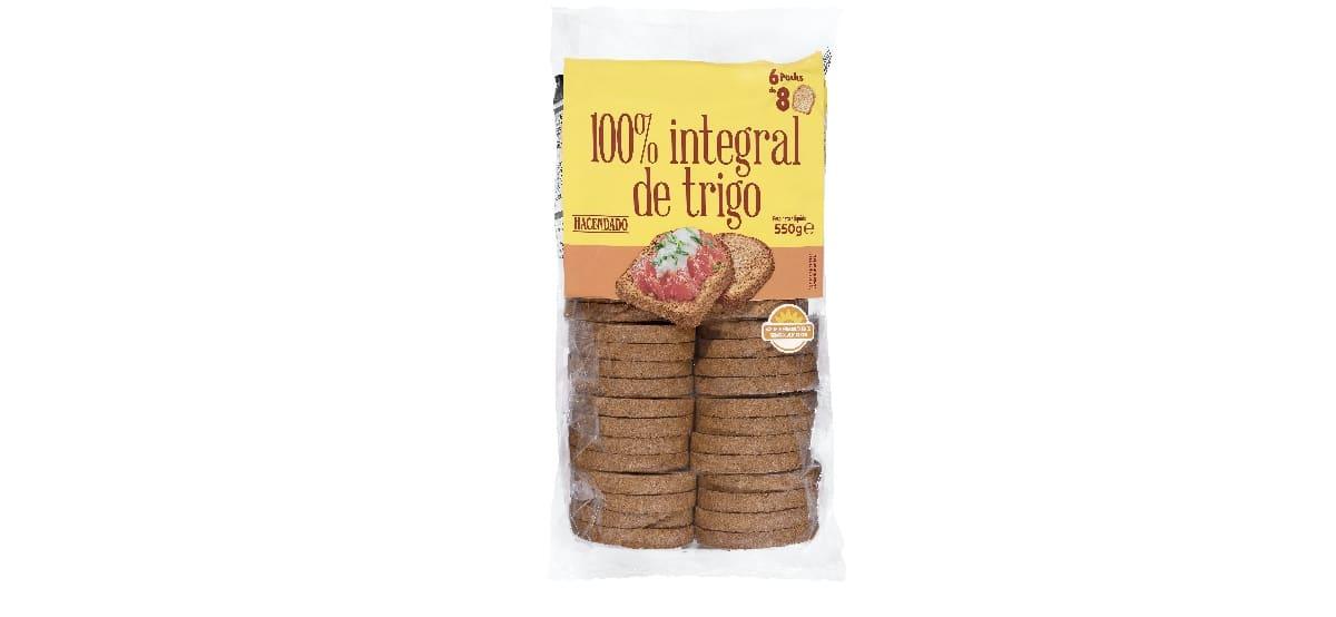 pan tostado 100 integral trigo mercadona hacendado