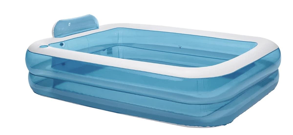 piscina hinchable 600 litros rectangular azul crivit lidl