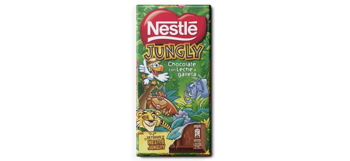 tableta de chocolate nestle jungly aldi