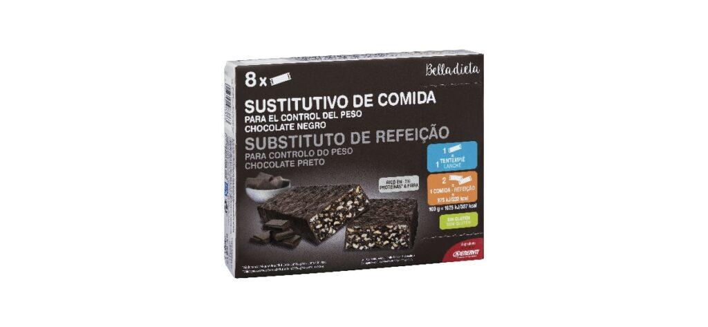 barrita sustitutiva de comida con sabor a chocolate negro belladieta mercadona 1024x473 - Barrita sustitutiva de comida sabor chocolate en Mercadona