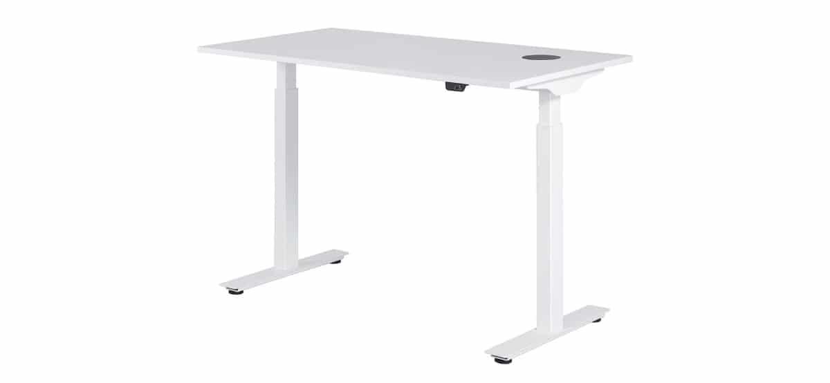 escritorio de altura regulable con estacion de carga en lidl 1