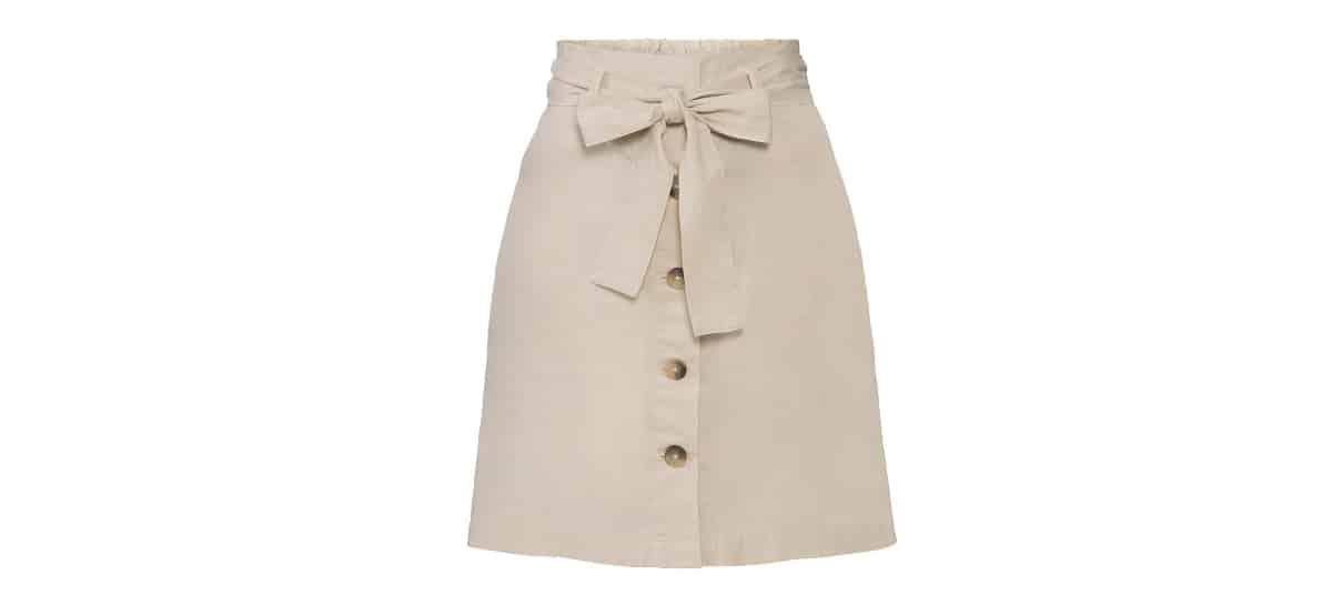 falda de lino para mujer con botones en lidl