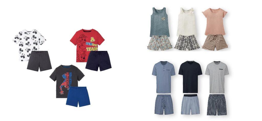 pijama verano para toda la familia en LIdl