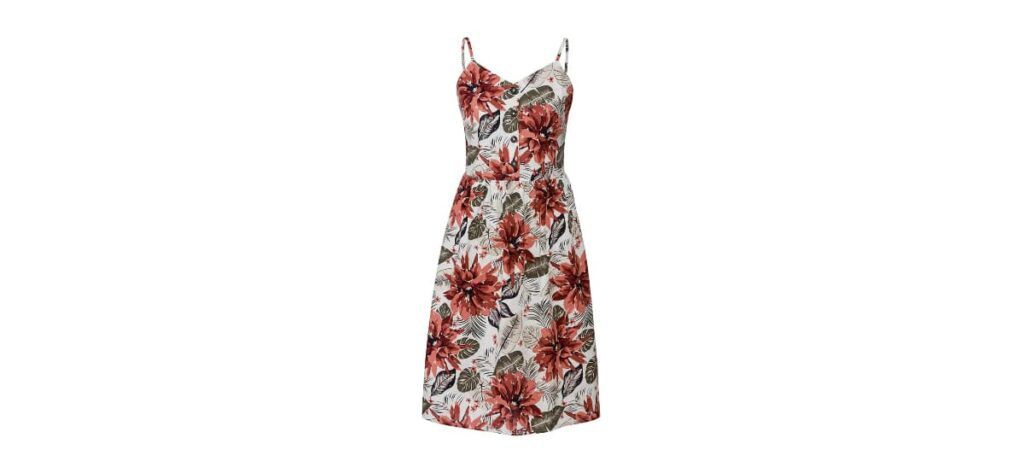 vestido de lino con tirantes para mujer de lidl