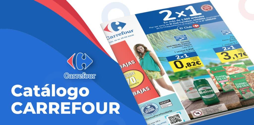 carrefour folleto 16 julio 1024x503 - Catálogo 2x1 Carrefour del 16 al 28 julio