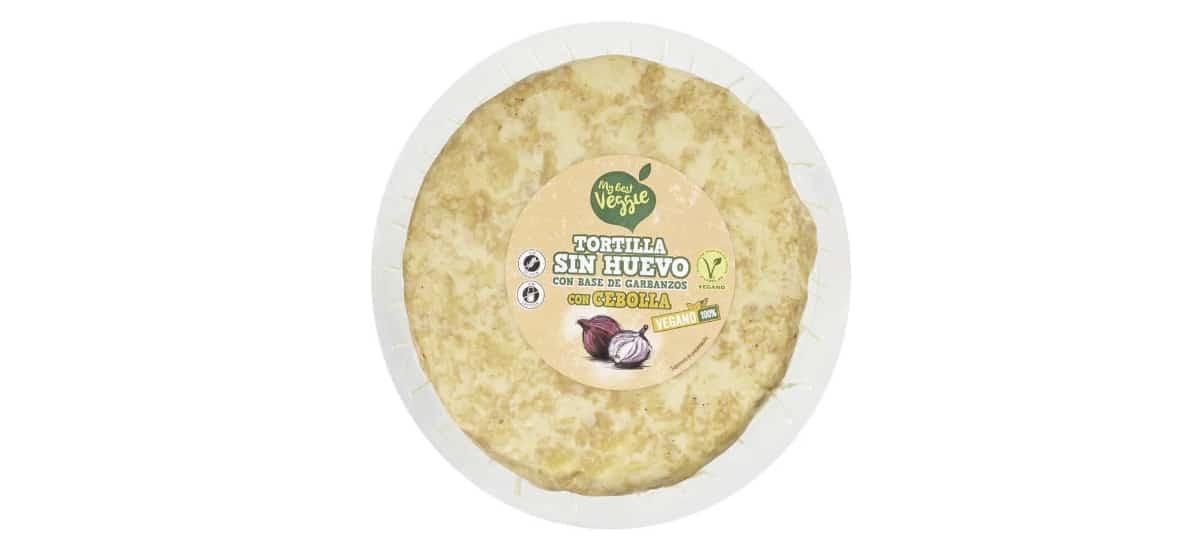 tortilla sin huevo a base garbanzos de lidl