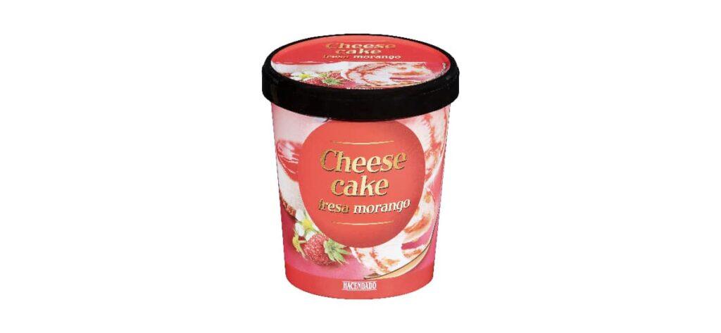 helado de tarta de queso cheese cake hacendado en mercadona 1024x473 - Helado tarta de queso con fresas de Mercadona