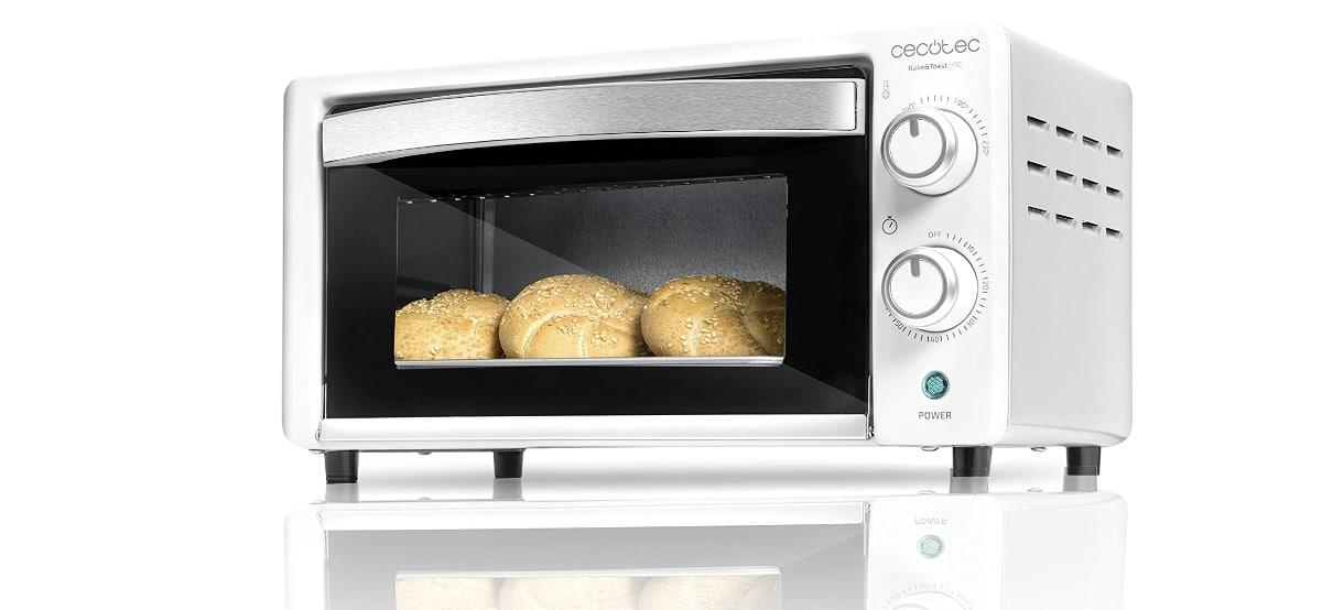 horno de sobremesa bake and toast 480 cecotec en aldi