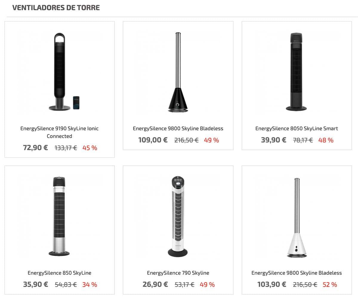 ventiladores torre cecotec - Ventilador de torre energy silence Cecotec en Aldi