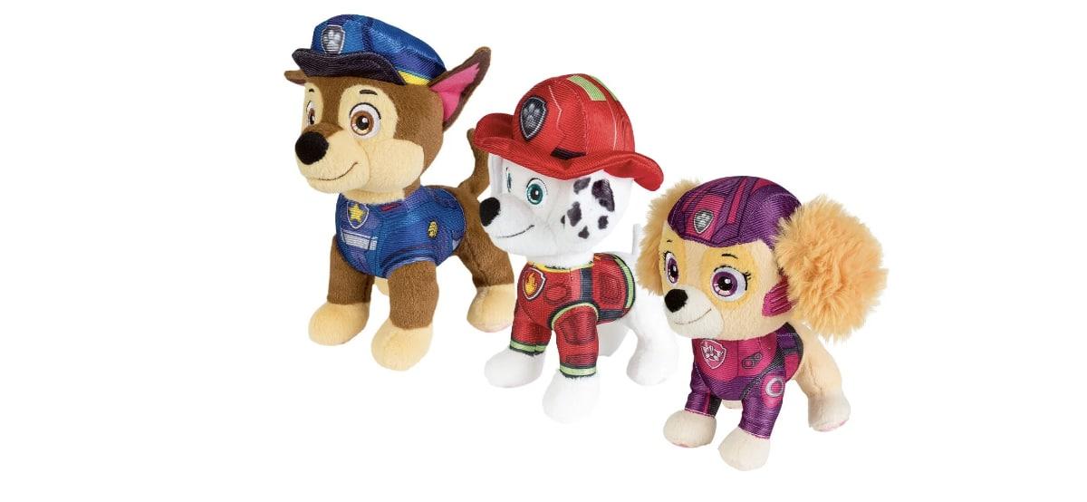 set peluches patrulla canina en lidl
